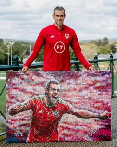 PONTYCLUN, WALES, - 05 SEPTEMBER, 2020: Wales' Gareth Bale during a media session at the Vale Resort. Pic by John Smith/FAW